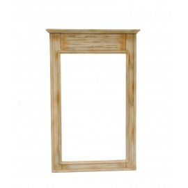 Abbeville Distressed Beige Mirror